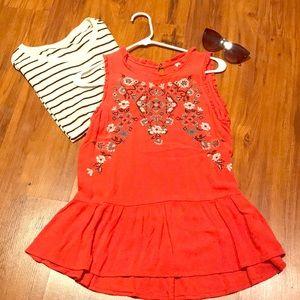 Orange tank top for summer! Lightly warn. :)